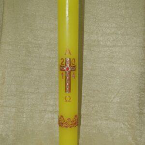 Uskrsna svijeća 10×120 cm reljef (troplet)