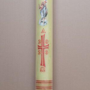 Uskrsna svijeća 10×90 dekor 2